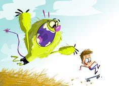 Monster Illustration, Illustration Art, Walt Disney Animation Studios, Animation Reference, Simple Colors, Cartoon Styles, Amazing Art, Character Inspiration, Illustrators