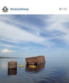 Ice house on Lake Superior- Duluth, MN