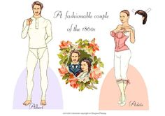 A fashionable couple of the 1860s | Gabi's Paper Dolls