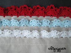 New Alipyper Eyelet Lace Crochet Edging Pattern Crochet Lace Trim Pattern Crochet Edging Patterns, Crochet Lace Edging, Crochet Borders, Crochet Designs, Crochet Stitches, Crochet Squares, Cross Stitches, Granny Squares, Stitch Patterns