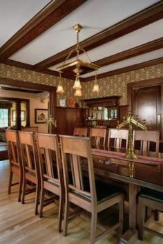 The August and Grace Olson House - dining room