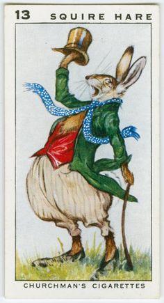 Cigarette card, 1920s./ Smoking Cool Bunny Rabbit