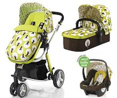 Cosatto Giggle Hold 3 in 1 With Car Seat Combi Pram Treet £350