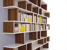Lacquered bookcase UP-PILL - ESTEL