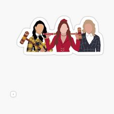 'Cami, Lili, & Mads' Sticker by amieydesigns in 2021
