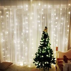 Window Curtain Icicle String Lights of 300LED for Christmas Xmas Wedding Party Home Decoration Fairy Lights Wedding Party Home Garden Decorations 3m*3m(White) (Upgraded Low Voltage) [Energy Class A+++]. Buy it now by clicking on the picture. Only 21.99£ now. 35% discount.
