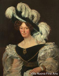 """Franz (François) RISS (1804-1886) """"Portrait of a Young Lady"""" 1828 Bergamo, Villa Nuova Fine Arts"""