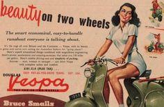 Ad for the UK-built Douglas Vespa, 1953.