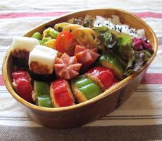 A bento with meat-stuffed peppers   yuka's recipe