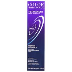 Ion color Brilliance Master Colorist Series Permanent Creme Hair Color Midnight Blue Black