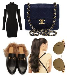 """""""Untitled #186"""" by jessieeev on Polyvore featuring Versus, Gucci, Chanel and Ahlem Chloe, Gucci, Polyvore, Bags, Fashion, Handbags, Moda, La Mode, Fasion"""