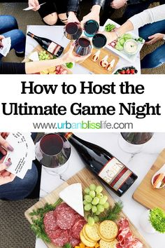 How to host the ultimate game night: wine, food menu ideas, party planning tips. Enjoy girls' night in with a fun game night! Game Night Snacks, Game Night Parties, Game Day Food, Game Party, Adult Game Night Party, Xbox, Playstation, Couples Game Night, Family Game Night