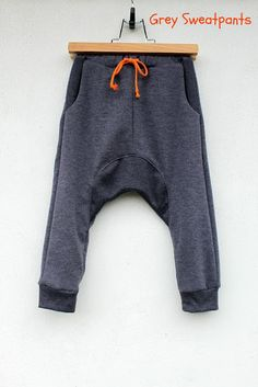 sweatpants w/ orange drawstring