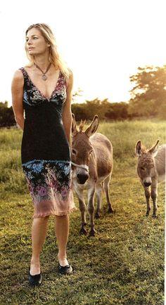 2002 Anthropologie Rose Mesh Dress