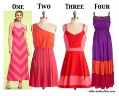 colorblock dresses via ruffles & truffles