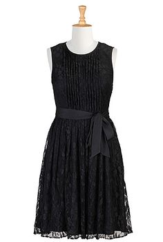 I <3 this Tux front lace dress from eShakti. This website has some great plus size dresses