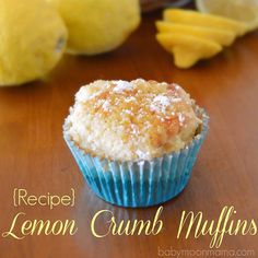 This mouthwatering Lemon Crumb Muffin #ontheblog is a must try. They are so easy to make and absolutely delicious. {link in profile}