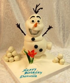 Olaf Cake from the movie Frozen