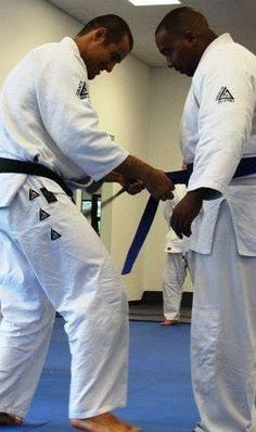 This was at a seminar a few years ago where Rener and Ryron Gracie presented me with my Blue Belt in Gracie Jiu jitsu.