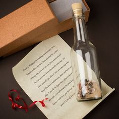 Pen a love letter to your soulmate to mark your 1st wedding anniversary! | Personalised Message In A Bottle | GettingPersonal.co.uk