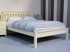 Ivory Denver Small Double Bed 4ft Beds, White Bedding, Double Beds, Denver, Ivory, Furniture, Color, Home Decor, White Linen Bed