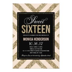 Glamorous Shimmer | Sweet Sixteen Party Invitation