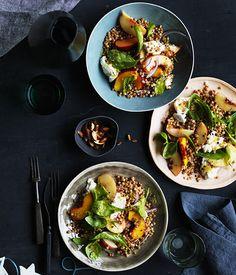 Peach, mozzarella and fregola salad :: Gourmet Traveller