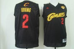 Cleveland Cavaliers 2 Kyrie Irving New Revolution 30 Swingman Road Black Jersey 2015 NBA Finals Patch