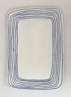 five line platter by Paula Greif Ceramics