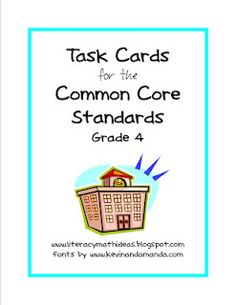 4th grade task cards for common core standards