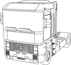 DAF XF 106 truck 3d illusion lamp plan vector file