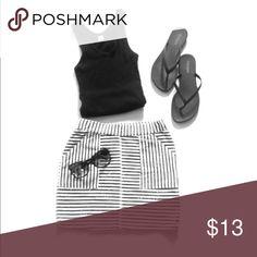 Mini skirt ... black & white striped Super cute black and white striped mini skirt Skirts Mini