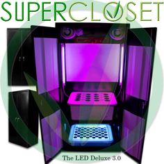 SuperCloset - Deluxe 3.0 LED Grow Cabinet-grow box