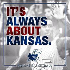 """""""It's always about the Jayhawks. Kansas Jayhawks Basketball, Kansas Basketball, Basketball Tips, University Of Kansas, Kansas City, Go Ku, U Rock, Go Big Blue, Ways Of Learning"""