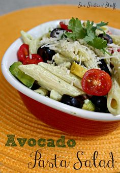Avocado Pasta Salad Recipe on MyRecipeMagic.com