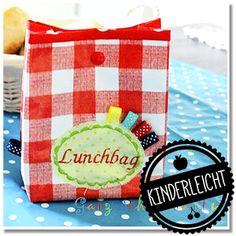 Hier zeigen wir Euch, wie kinderleicht Ihr einen tollen Lunchbag für das Schulbrot näht. Er eignet sich auch prima als Utensilo für K...