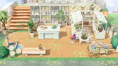 Animal Crossing Leaf, Animal Crossing Pocket Camp, Animal Crossing Qr Codes Clothes, Flower Garden Design, Book Drawing, Flower Stands, Garden Shop, Island Design, Flower Market