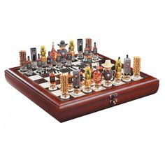 Jack Daniels Chess Set Featuring 32 intricately detailed hand-sculpted resin pieces from the primary ingredient in Jack Daniel's. Top quality wooden board, branded with the Jack Daniel's logo, doubles as a carrying case for the pieces. Dimensions: x x Jack Daniels Gifts, Jack Daniels Logo, Jack Daniels Whiskey, Tennessee, Drinking Games, Liquor Bottles, Alcohol Bottles, Cool Stuff, Stuff To Buy