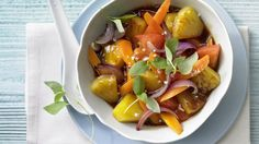Wok-Gemüse mit Ananans