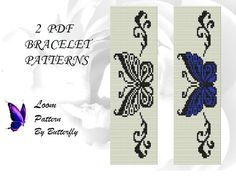 2 Loom Butterfly Patterns BT-056 by ButterflysDesignMRZ on Etsy
