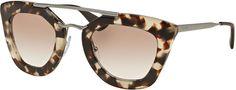 Prada Square Brow-Bar Sunglasses