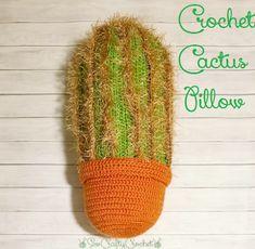 Pinterest Challenge Blog Hop: Cactus Pillow - Sew Crafty Crochet