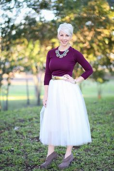 the MRS. & the MOMMA: Holiday Outfit Style // Tulle Skirt