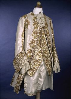Reine des Centfeuilles.Hochzeitsanzug King Christian VII um 1750 When men's clothing was as beautiful as ladies clothing