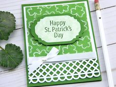 St Patricks Day Cards, Happy St Patricks Day, Hand Made Greeting Cards, Greeting Cards Handmade, Irish Celebration, Dad Birthday Card, Bday Cards, Fathers Day Cards, Artist Trading Cards