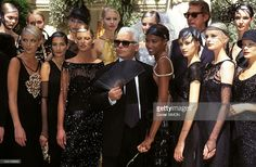 Haute Couture Fall -Winter 96 -97 in Paris, France in July 1996 - Chanel (Karl Lagerfeld, C).