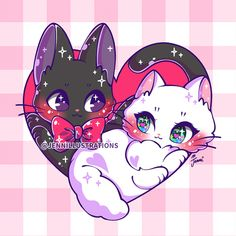 Kawaii Love, Cute Kawaii Animals, Cute Animal Drawings Kawaii, Cute Cartoon Drawings, Kawaii Chibi, Kawaii Cat, Kawaii Anime, Kiki Delivery, Kiki's Delivery Service