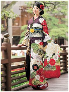 thekimonogallery:  Furisode Furisode Kimono, Yukata, Kimono Japan, Japanese Kimono, Traditional Kimono, Traditional Outfits, Geisha Japan, Samurai, Japanese Outfits