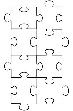 16 Piece Jigsaw Template Could Be Used For Our Integer Puzzle