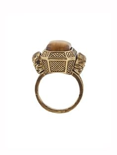 House of Harlow 1960 double skull ring